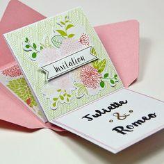 Tacha a imaginé une superbe invitation de mariage sous forme d'accordéon en voici un aperçu ! Qu'est ce que vous en dites ? #diy #doityourself #mariage #savethedate #invitation #wedding #scrap #faitmain #handmade by togaparis
