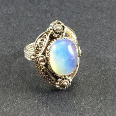 Filigree Opal Ring - Vol 1 by NaxiDesigns on Etsy