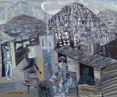 Candido Portinari (1903-1962) - Favelas, 1930