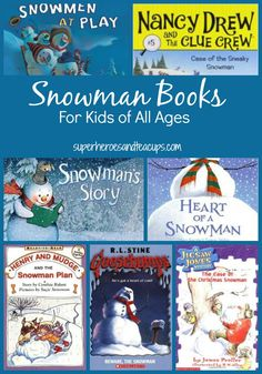 Looking for inspiration for the Book Buddy Winter Writing Contest? A list of snowman books for kids of all ages, featuring both picture books and chapter books.