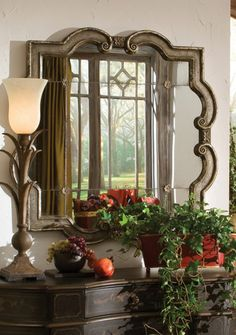 Tuscan Mirror, Tuscan Wall Mirror, Mediterranean Style Mirror. Uttermost 12597 Prisca, Small. Tuscan Decor Retailer Since 1996. No Sales Tax, Free Shipping. Low Prices. BellaSoleil.com Tuscan Decor.