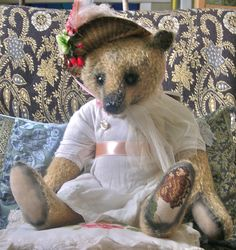 A Winter's Rose - Portobello Bear Company - OOAK - Year 2004