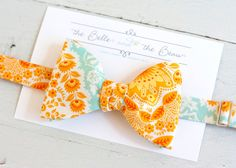 The Beau- men's amber paisley freestyle bow tie on Etsy, $35.00