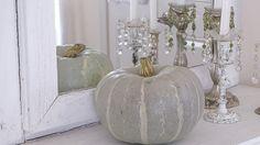 Festival Of Fall Tour - White Lace Cottage...paint pumpkins this color <3
