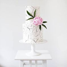 """Fractured"" wedding cake by Sweet Bakes"