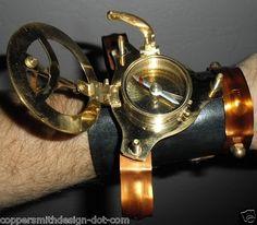 CUSTOM STEAMPUNK PIRATE ARMLET bracelet sundial & compass | eBay
