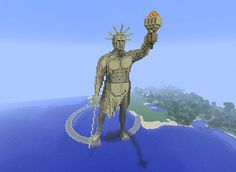 Minecraft Colossus of Rhodes