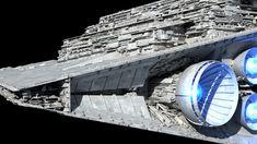 Imperator-class Star Destroyer Redux by Ansel Hsiao, Fractalsponge Star Wars Design, Star Wars Models, Imperial Army, Star Wars Ships, Star Destroyer, Star Citizen, Image Shows, Far Away, Warfare