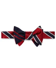 Social Primer Reversible Bow Tie: BB#2 Stripe and Twin Stripe | Brooks Brothers