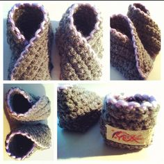 Newborn crossover booties