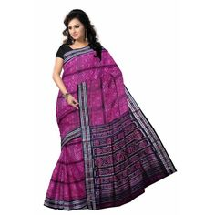 This is the Latest designed Pink and black colour beautiful sari gives you a very attractive look in parties, functions or in special occasions.