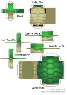 Papercraft Turtle eggs and correctly scaled Sea Turtle