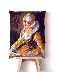 Huge Unique French Needlepoint Tapestry Marie by Retrocollects £35 https://www.etsy.com/shop/Retrocollects