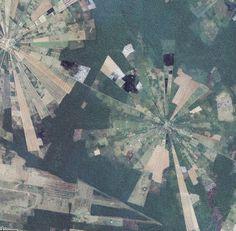 Polar area diagram in Google Maps aerial
