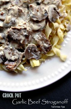 Seriously yummy Crock Pot Garlic Beef Stroganoff!