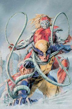 Wolverine vs. Omega Red by Doug Braithwaite
