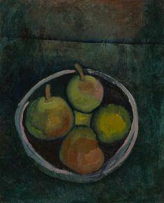 Still Life with Four Apples (Stilleben mit vier Früchten in Schale vor dunkelgrünem Grunde), Museum of Modern Art, New York  Paul Klee