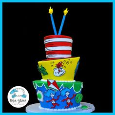 Dr. Seuss Birthday Cake @Amanda Snelson Grafton I would like this for my birthday please :)