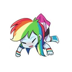 Happy version of Rainbow Dash Original - http://40.media.tumblr.com/4b8e5b5bef40acfd26a529ebf810bfa9/tumblr_nno0odhcJJ1u34ag9o3_500.png