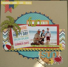 Fun in the Sun - Scrapbook.com  I like the netting on the bottom