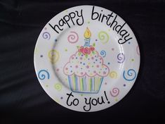 personalized cupcake bouquet birthday plate