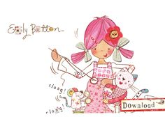 Ragdoll Emily Button with Mousey and Bobble.    www.emilybutton.co.uk Little Girls, Snoopy, Buttons, Sewing, Anime, Fun, Fictional Characters, Wallpapers, Illustrations