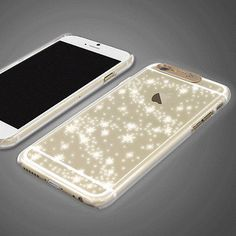"""SG LED Lighting Case iPhone 6 Case Flash Lighting Clear Case 6 Types Korea made"" lights up for alerts/calls."
