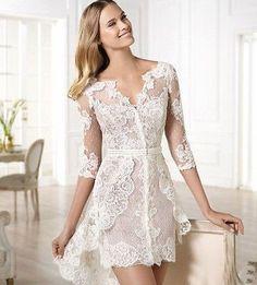 White Cocktail Wedding Dresses