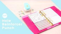 The We R Memory Keepers Hole Reinforcer Punch is definitely a must-have tool for and Join designer Aly Dosdall as she shares some helpful tips & tricks for creating easy hole reinforcers for your and more. Must Have Tools, We R Memory Keepers, Video Tutorials, Helpful Tips, School Supplies, Notebooks, Planners, Punch, Join