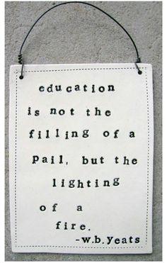 The best teachers light that fire, thank you teachers!