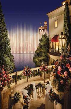 Terrazza di Sogno at Bellagio -- Las Vegas wedding venue ~Wealth and Luxury ~Grand Mansions, Castles, Dream Homes & Luxury homes