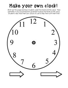 English worksheet: let´s make a clock | Classroom | Pinterest ...
