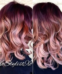 Gorgeous rose gold, plum and neural warmth. Love it :) Joico