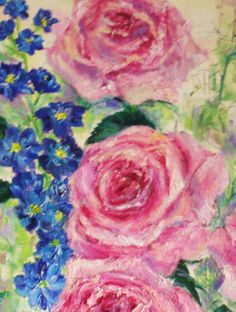 'Roses' close up by Amanda Wright
