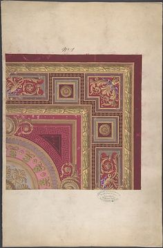 Design for a Carpet - Anonymous - 19th Century - French