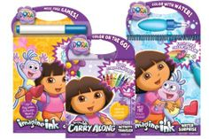 Bendon Dora Pack Activity Set by Bendon. $27.99. Ideal for travel and on the go lifestyles. Perfect for any Dora the Explorer Fan. Captivates the attention for hours. From the Manufacturer                This Dora the Explorer Activity Pack is the ideal collection of three fun and exciting activity books to keep anyone entertained for hours on end. The Imagine Ink Color Change Game Book allows you to play games, do puzzles and more. The Carry Along Activity Trav...