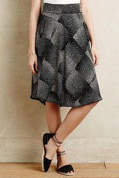 Stippled Square Skirt - anthropologie.com  anthrofave Square Skirt, Shoes  With Jeans, b05ce1a5d218