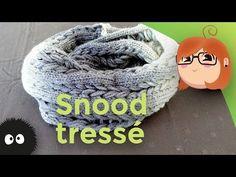 Tutoriel de tricotin circulaire facile pour faire un joli snood 2 tours de cou avec des (fausses) tresses (qui ont l'air de vraies !). Le fil à tricoter util...