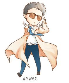 """Castiel, Angel of the Lord.  Going through a """"swag"""" phase?  Dean, your boyfriend is out of control."""