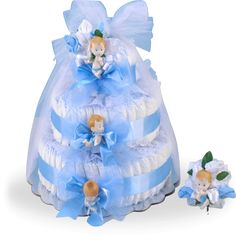Delightful Baby Boy Diaper Cake Gift Set Price: $85.00 #GiftBaskets4Baby #Boys #gifts #giftbaskets #Baby For more information visit: www.GiftBaskets4Baby.com