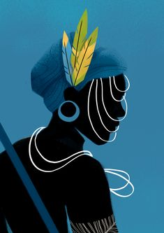 Personal project inspired by the afro culture present at Brazil Arte Tribal, Tribal Art, Art And Illustration, Orishas Yoruba, African Art Projects, Black Art Painting, African Paintings, Africa Art, Arte Pop