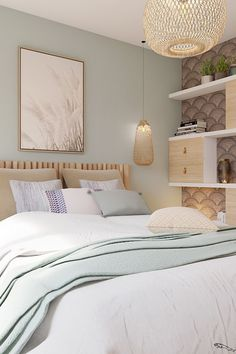 Fine Deco Chambre Inspiration Bord De Mer that you must know, You?re in good company if you?re looking for Deco Chambre Inspiration Bord De Mer Bedroom Green, Room Ideas Bedroom, Small Room Bedroom, Home Decor Bedroom, Bedroom Wall, Decoracion Habitacion Ideas, Bedroom Color Schemes, Calming Bedroom Colors, New Room