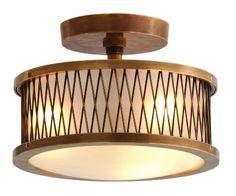 &&  Arteriors DK46025 Optic Large 3 Light Cast Brass/Glass Pendant