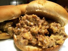 White Trash Sliders... ground beef, sausage and Velveeta on slider buns