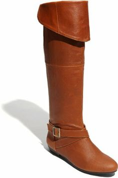 Chinese Laundry Women's Nostalgia Leather Knee-High Boot,Cognac $99