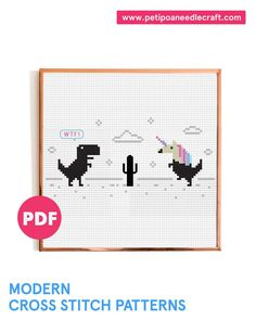 WTF Unicorn • Funny Cross Stitch Pattern • Unicorn Cross Stitch • Digital ... - #Cross #Digital #Funny #pattern #stitch #Unicorn #WTF Modern Embroidery, Cross Stitch Embroidery, Embroidery Patterns, Funny Cross Stitch Patterns, Tv Shows Funny, Embroidered Gifts, Inspirational Wall Art, T Rex, Nursery Wall Art
