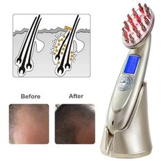 Hair Regrowth - Professional Electric Laser Comb – Hairymeup Hair Growth Cycle, New Hair Growth, Hair Thickening Remedies, Hair Grower, Laser Comb, Hair Loss Reasons, Natural Hair Regrowth, Thin Hair Cuts, Thin Hair Styles For Women