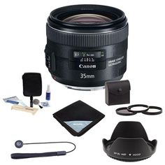 The Canon 35mm f/2 IS lens is a modern day update to a versatile compact and lightweight wide-angle Canon classic. The EF 35mm f/2 IS USM offers image stabilization and what Canon says is image qual...