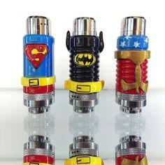Custom k101s we did by LacedUpVapes Superman Batman Wonder Woman Ecig Vapor Vape #Vape #VoomVape #Vaping #Ejuice #Love
