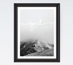 Let this Christian art print be a reminder to turn to Him with all things big and small because with Him we are able to do great things. #christianart